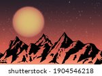 mountains design with sunset... | Shutterstock .eps vector #1904546218