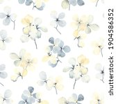 seamless floral pattern of... | Shutterstock . vector #1904586352