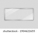 glass plate in rectangle frame... | Shutterstock .eps vector #1904622655