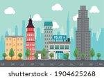 city life megalopolis cityscape ... | Shutterstock .eps vector #1904625268