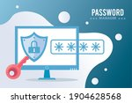 password manager theme with... | Shutterstock .eps vector #1904628568