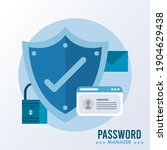 password manager theme with... | Shutterstock .eps vector #1904629438