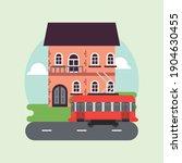 city life megalopolis cityscape ... | Shutterstock .eps vector #1904630455