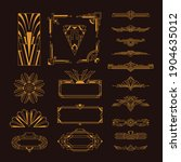 art deco golden elegant vintage ...   Shutterstock .eps vector #1904635012