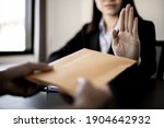 Businesswoman Raised Her Hand...