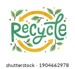 modern eco sticker with recycle ... | Shutterstock .eps vector #1904662978