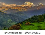 Small photo of Annapurna South in the morning, Himalayas, Nepal