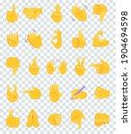 hand gesture emojis icons... | Shutterstock .eps vector #1904694598