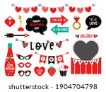 photo booth props for... | Shutterstock . vector #1904704798