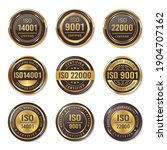iso certification seal badges... | Shutterstock .eps vector #1904707162