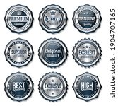 set of seal quality product... | Shutterstock .eps vector #1904707165
