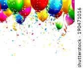 colorful birthday balloons and... | Shutterstock .eps vector #190471016