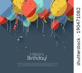 colorful birthday background in ... | Shutterstock .eps vector #190471082