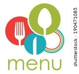 restaurant design over white... | Shutterstock .eps vector #190471085