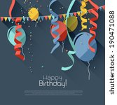modern birthday background in... | Shutterstock .eps vector #190471088