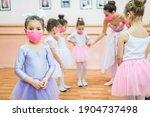Group of beautiful little girls ...