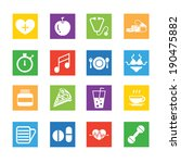 medical icons with white... | Shutterstock .eps vector #190475882