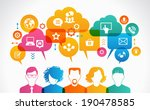 concept of people communicate...   Shutterstock .eps vector #190478585