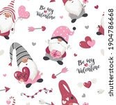 seamless pattern with valentine'... | Shutterstock .eps vector #1904786668