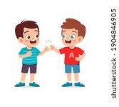 cute little kid boy do bro fist ...   Shutterstock .eps vector #1904846905