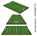 soccer  football field 3d   Shutterstock . vector #190486772