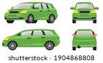 minivan in different angles.... | Shutterstock .eps vector #1904868808