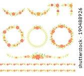 set of floral wreaths  frames ... | Shutterstock .eps vector #190488926