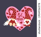 set of valentines day greeting... | Shutterstock .eps vector #1904936578