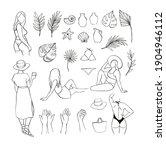 abstract linear woman vector...   Shutterstock .eps vector #1904946112