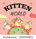 Cover Design With Unicorn Cats. ...