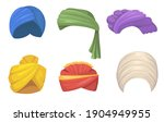 traditional turbans set. indian ... | Shutterstock .eps vector #1904949955