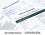 health insurance form ... | Shutterstock . vector #190496306