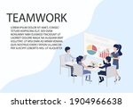 employee sitting in a meeting... | Shutterstock .eps vector #1904966638
