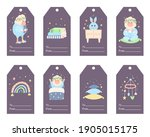 vector templates of cute baby... | Shutterstock .eps vector #1905015175