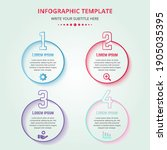 colorful infographic steps with ... | Shutterstock .eps vector #1905035395