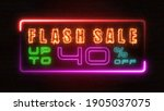 flashing sale up to percent off ... | Shutterstock . vector #1905037075