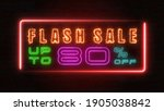 flashing sale up to percent off ... | Shutterstock . vector #1905038842