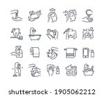 body wash outline icons.... | Shutterstock .eps vector #1905062212