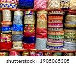 beautiful indian lace borders... | Shutterstock . vector #1905065305