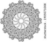 symmetrical zen mandala with... | Shutterstock .eps vector #1905071008