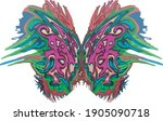 abstract beautiful colored... | Shutterstock .eps vector #1905090718