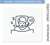 sleep talking line icon. sleep... | Shutterstock .eps vector #1905112402