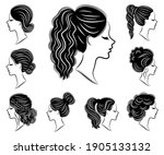 collection. silhouette of the... | Shutterstock .eps vector #1905133132
