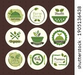 organic food  set labels and... | Shutterstock .eps vector #1905136438