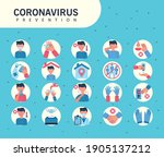 icons informative of covid19... | Shutterstock .eps vector #1905137212