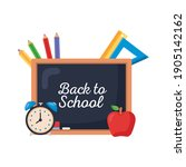 back to school lettering with... | Shutterstock .eps vector #1905142162