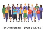 multicultural group of people.... | Shutterstock .eps vector #1905142768
