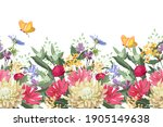 vector floral seamless border.... | Shutterstock .eps vector #1905149638