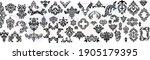 set vintage baroque frame... | Shutterstock .eps vector #1905179395