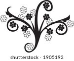 floral embellishment | Shutterstock .eps vector #1905192